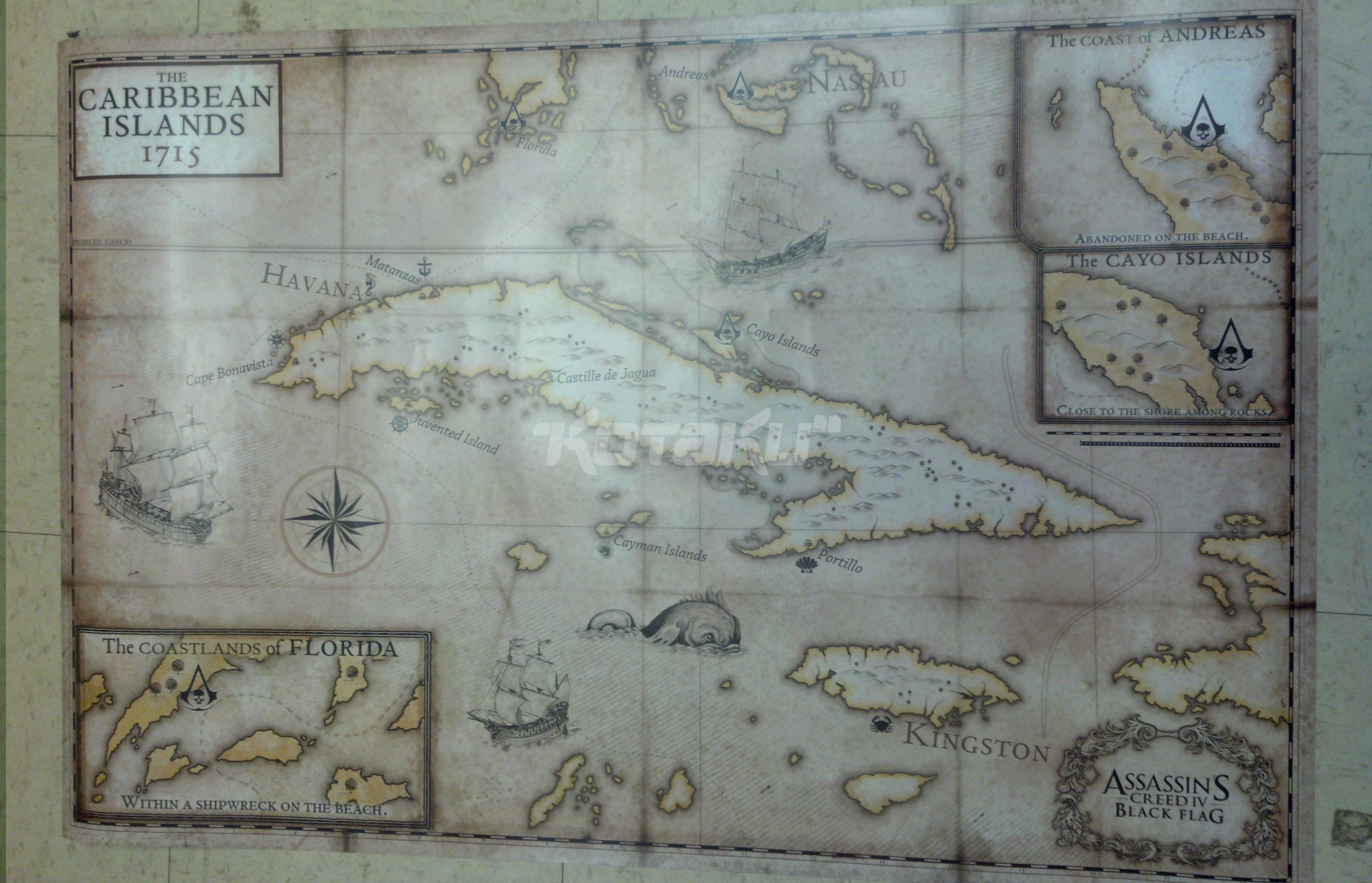 Mapa de assassins creed 4 black flag assassins creed center mapa de assassins creed 4 black flag gumiabroncs Choice Image